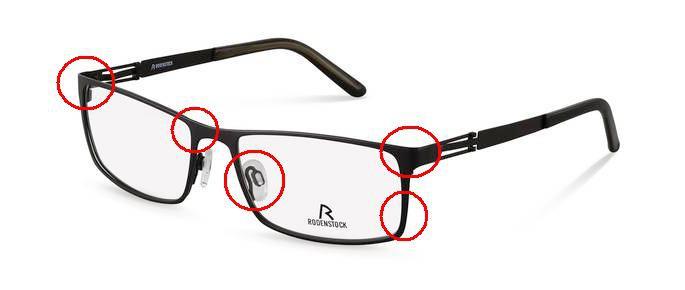 Reparation briller når uheldet er ude. Specialit i Rodenstock glas og briller.